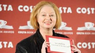 Hilary Mantel winning her Costa Book of the Year