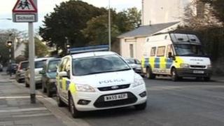 Police cars in Molesworth Rd, Plymouth