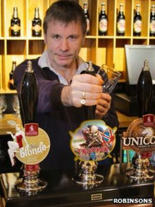 Bruce Dickinson and the Iron Maiden beer