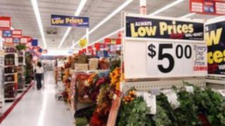 Shoppers at Wal-Mart