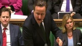 David Cameron at Prime Minister's Questions