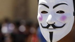 Guy Fawkes mask (file image)