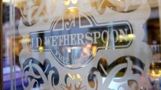 Oustide of JD Wetherspoon pub