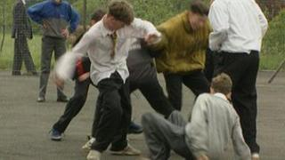 Playground fight