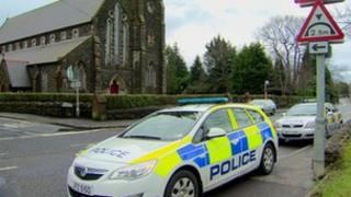 The alert was outside St Mary's Star of the Sea church