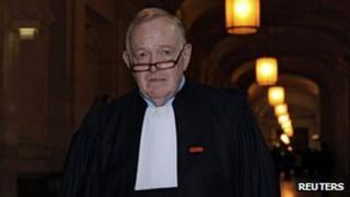 Olivier Metzner at the Paris courts on 23 November 2011.