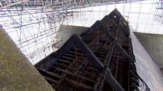 Damaged church roof in Sutton-on-Sea
