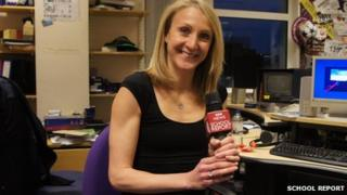 Marathon world record holder Paula Radcliffe ready for BBC News School Report duties