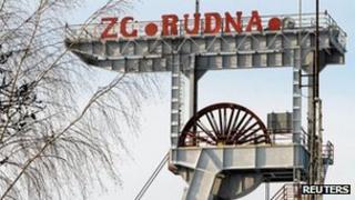 Archive photo of the Rudna copper mine in Poland, 2010