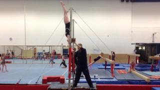 Cara Kennedy in training