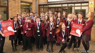 Priory School pupils