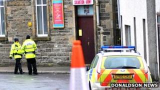 Police in attendance at Salvation Army hall, close to where body was found