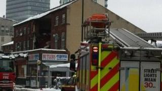The scene in Sheffield