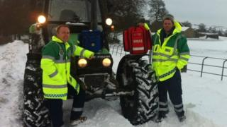 Flash and Longnor Community Responders Adam Rowbottam and Darren Barlow