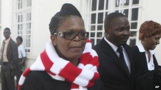 Beatrice Mtetwa outside court