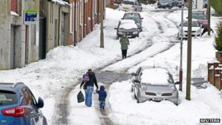 ... are still suffering the effects of the heavy snow in Northern Ireland