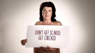 Actress Elaine C Smith in breast cancer advert