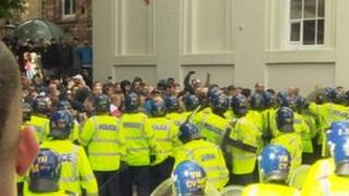 The Walsall protest