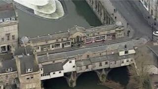 Pulteney Bridge and weir, Bath