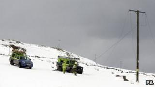 Power line repairs in Kintyre
