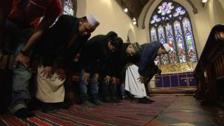 St John's Episcopal Church has opened its doors to Muslims for Friday prayers