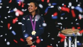 Jessica Ennis in Sheffield on 17/8/12