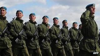 Russian paratroopers - file pic