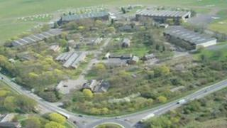 Aerial view of RAF Bicester