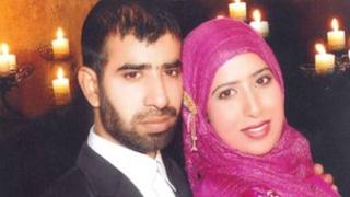 Azeem with wife Alia
