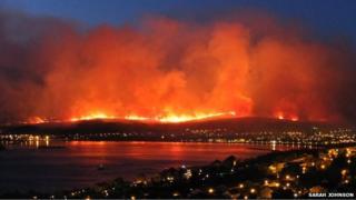 Fire near Fort William