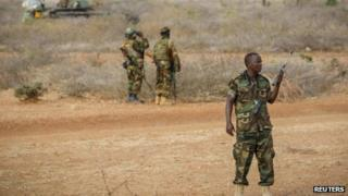 Ugandan officer serving with the African Union Mission in Somalia - February 2013