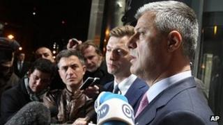 Kosovo PM Hashim Thaci in Brussels. 3 April 2013
