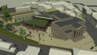 An architect's impression of the planned cultural and community hub in Brecon