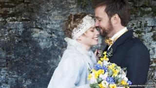 Lisa Grant and Alex Pelling marrying in Carmarthenshire