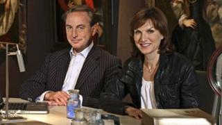 Art dealer Philip Mould and presenter Fiona Bruce