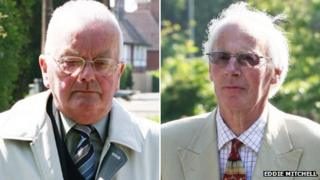 Father Keith Wilkie Denford and Michael Mytton