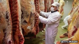 German abattoir - file pic
