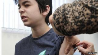 Teenager gets MMR jab at Morriston, Swansea
