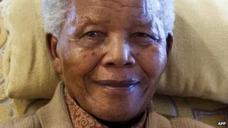 Nelson Mandela in July 2012