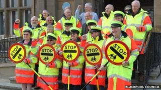 School crossing patrol officers in Blackpool