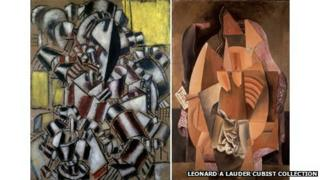 The Smoker, Leger and Woman In An Armchair, Picasso. Leonard A Lauder Cubist Collection; 2013 Artists Rights Society (ARS), New York/ADAGP, Paris