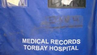 Medical records bag