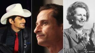 Brad Paisley, Anthony Weiner and Margaret Thatcher