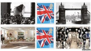 Royal Yacht Britannia stamps