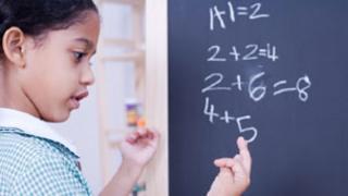 Girl doing maths