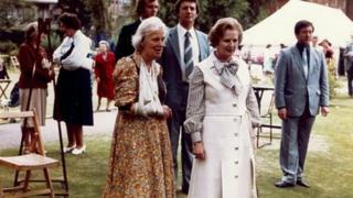 Professor Dorothy Hodgkin and Margaret Thatcher