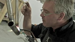 Peter Bird at work in Shropshire