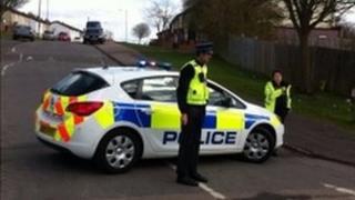 Police in Burnham Road, Luton
