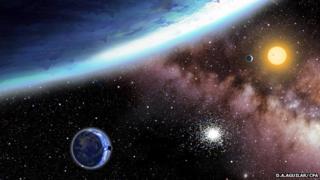 Artist's impression of Kepler-62 system