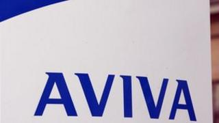 Aviva sign displaying logo